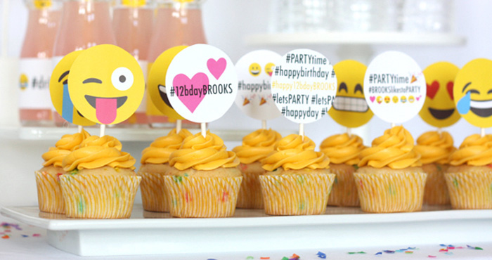 Pool Party Food Ideas For Teenagers kid pool party ideas Cupcakes From An Instagram Emoji Themed Teen Birthday Party Via Karas Party Ideas The Place