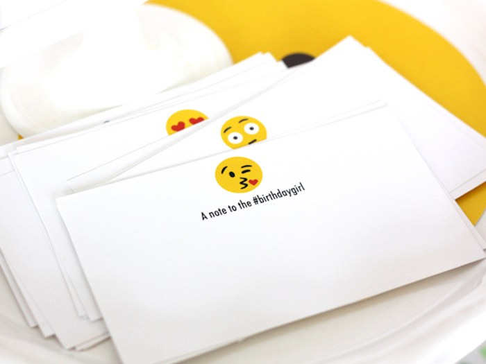 Notecards from an Instagram Emoji Themed Teen Birthday Party via Kara's Party Ideas - The Place for All Things Party! KarasPartyIdeas.com (26)