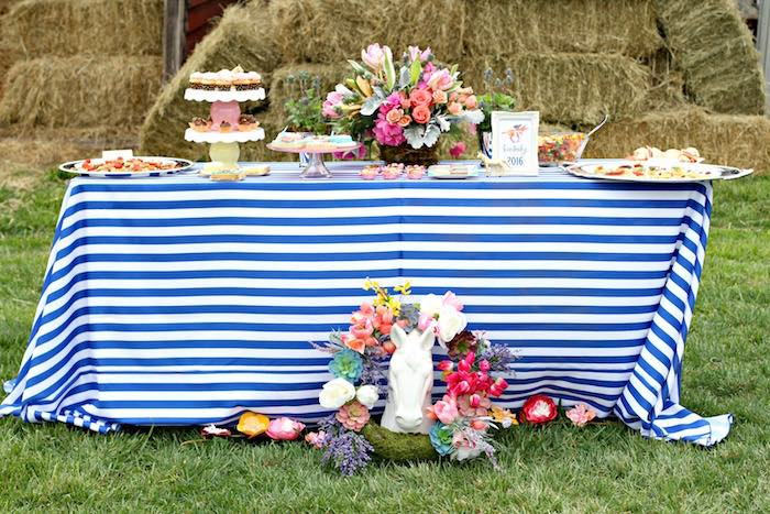 Sweet + Food Table from a Kentucky Derby Garden Party via Kara's Party Ideas | KarasPartyIdeas.com (45)