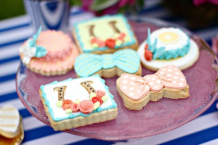 Cookies from a Kentucky Derby Garden Party via Kara's Party Ideas | KarasPartyIdeas.com (40)