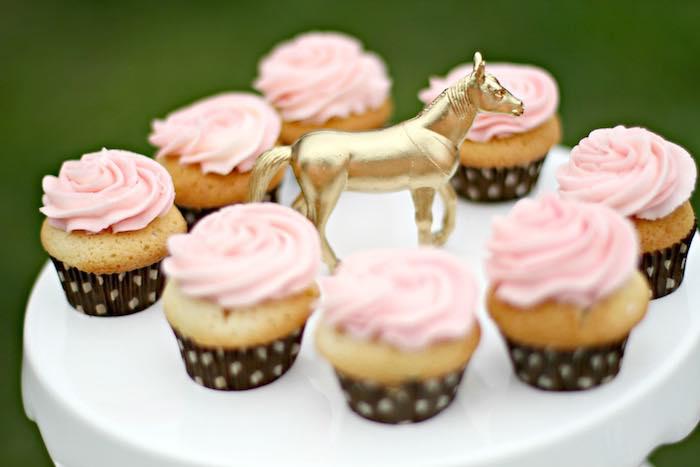 Cupcakes from a Kentucky Derby Garden Party via Kara's Party Ideas | KarasPartyIdeas.com (39)
