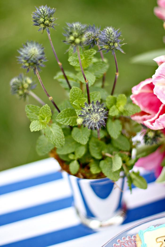 Plant + Arrangement from a Kentucky Derby Garden Party via Kara's Party Ideas | KarasPartyIdeas.com (37)