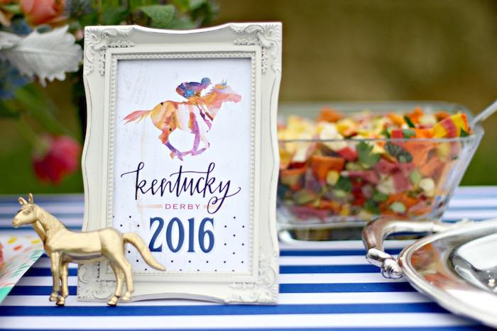 Framed Sign + Details from a Kentucky Derby Garden Party via Kara's Party Ideas | KarasPartyIdeas.com (32)
