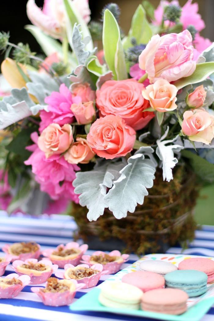 Floral Arrangement from a Kentucky Derby Garden Party via Kara's Party Ideas | KarasPartyIdeas.com (31)