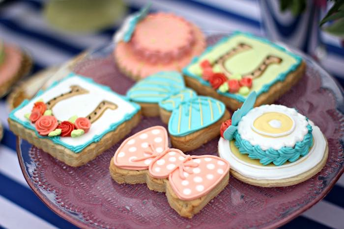 Cookies from a Kentucky Derby Garden Party via Kara's Party Ideas | KarasPartyIdeas.com (30)