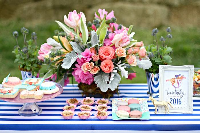 Sweet Table Details From A Kentucky Derby Garden Party Via Karau0027s Party  Ideas | KarasPartyIdeas.