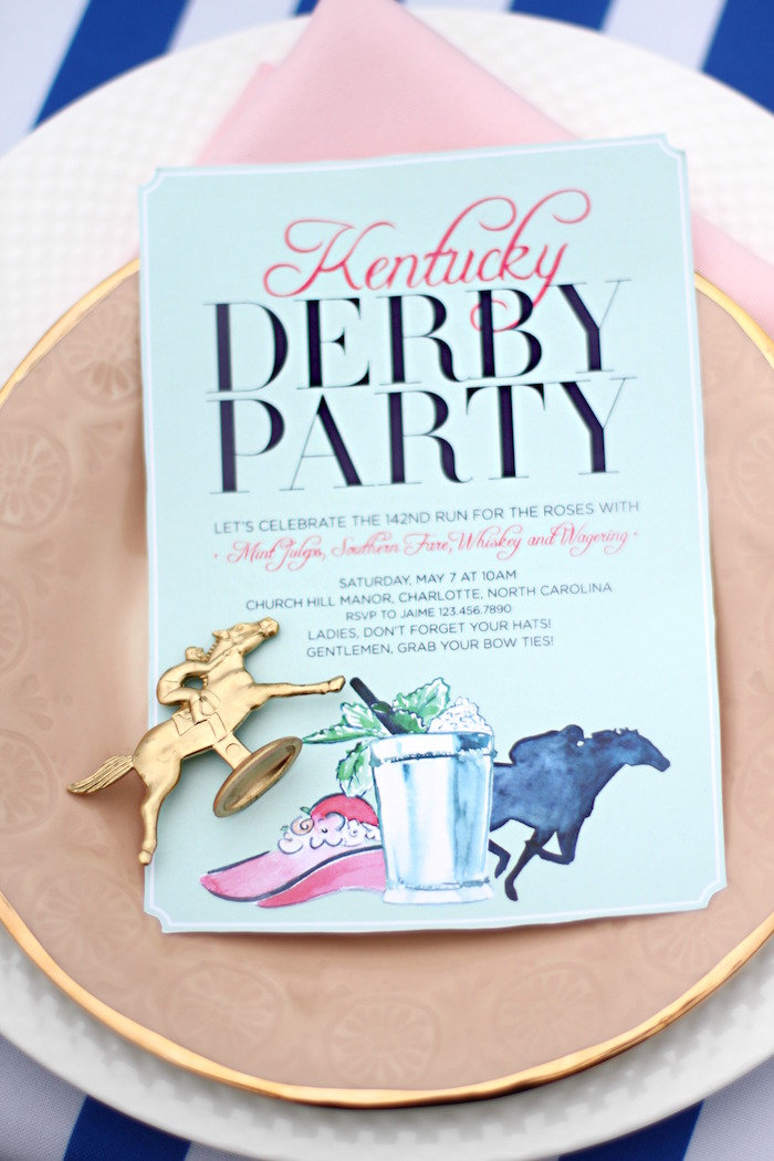 Invitation from a Kentucky Derby Garden Party via Kara's Party Ideas | KarasPartyIdeas.com (56)