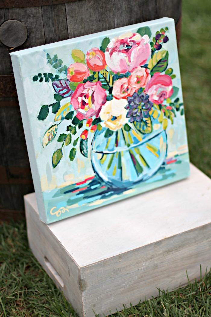 Art piece from a Kentucky Derby Garden Party via Kara's Party Ideas | KarasPartyIdeas.com (28)