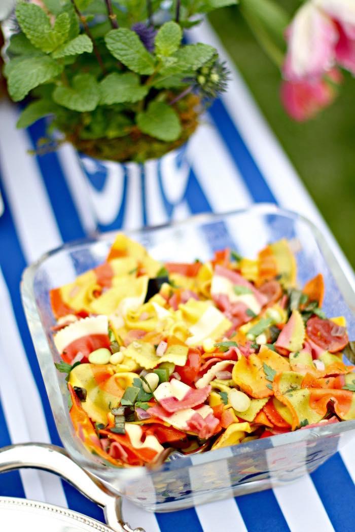 Salad from a Kentucky Derby Garden Party via Kara's Party Ideas | KarasPartyIdeas.com (25)