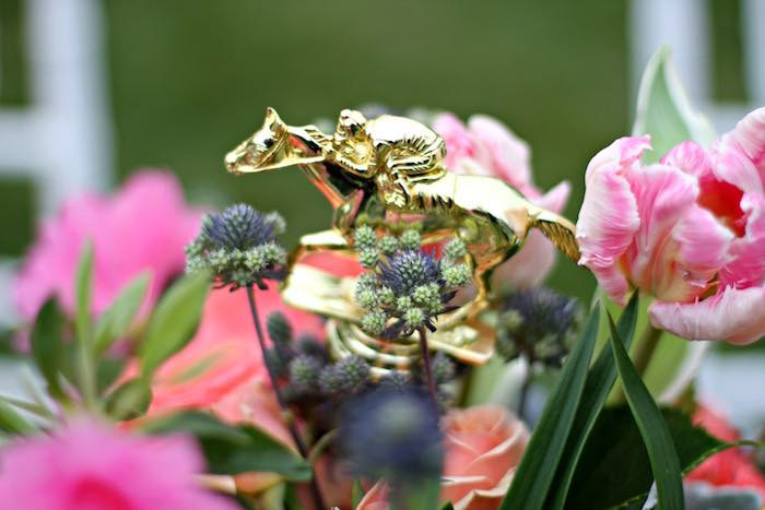 Horse + Jockey Figurine from a Kentucky Derby Garden Party via Kara's Party Ideas | KarasPartyIdeas.com (21)