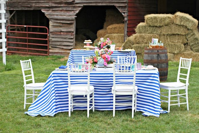 Party Setup + Display From A Kentucky Derby Garden Party Via Karau0027s Party  Ideas | KarasPartyIdeas
