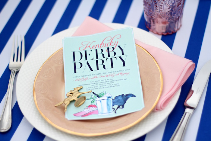Place Setting from a Kentucky Derby Garden Party via Kara's Party Ideas | KarasPartyIdeas.com (55)