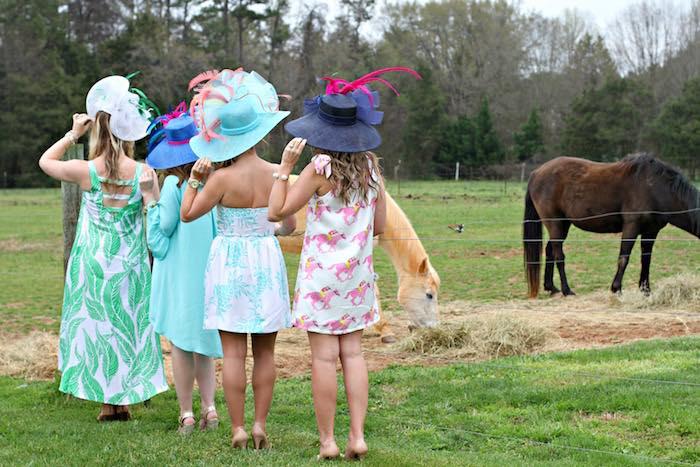 Ladies from a Kentucky Derby Garden Party via Kara's Party Ideas | KarasPartyIdeas.com (18)