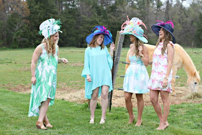 Ladies from a Kentucky Derby Garden Party via Kara's Party Ideas | KarasPartyIdeas.com (17)