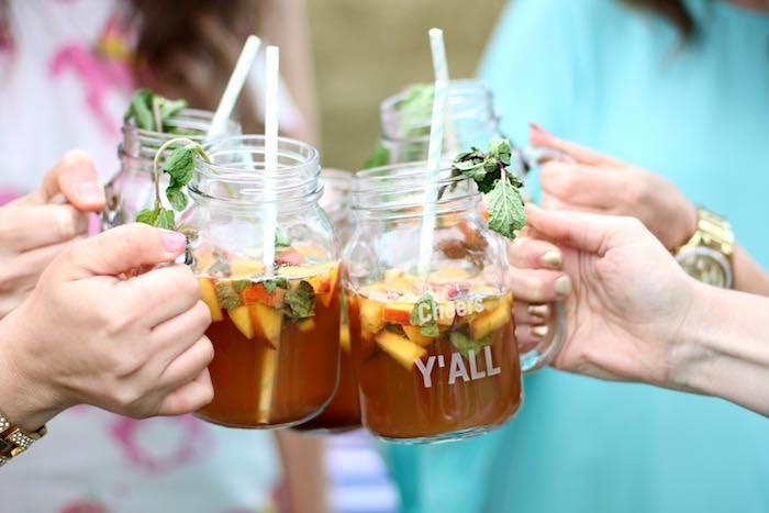Toasting from a Kentucky Derby Garden Party via Kara's Party Ideas | KarasPartyIdeas.com (15)