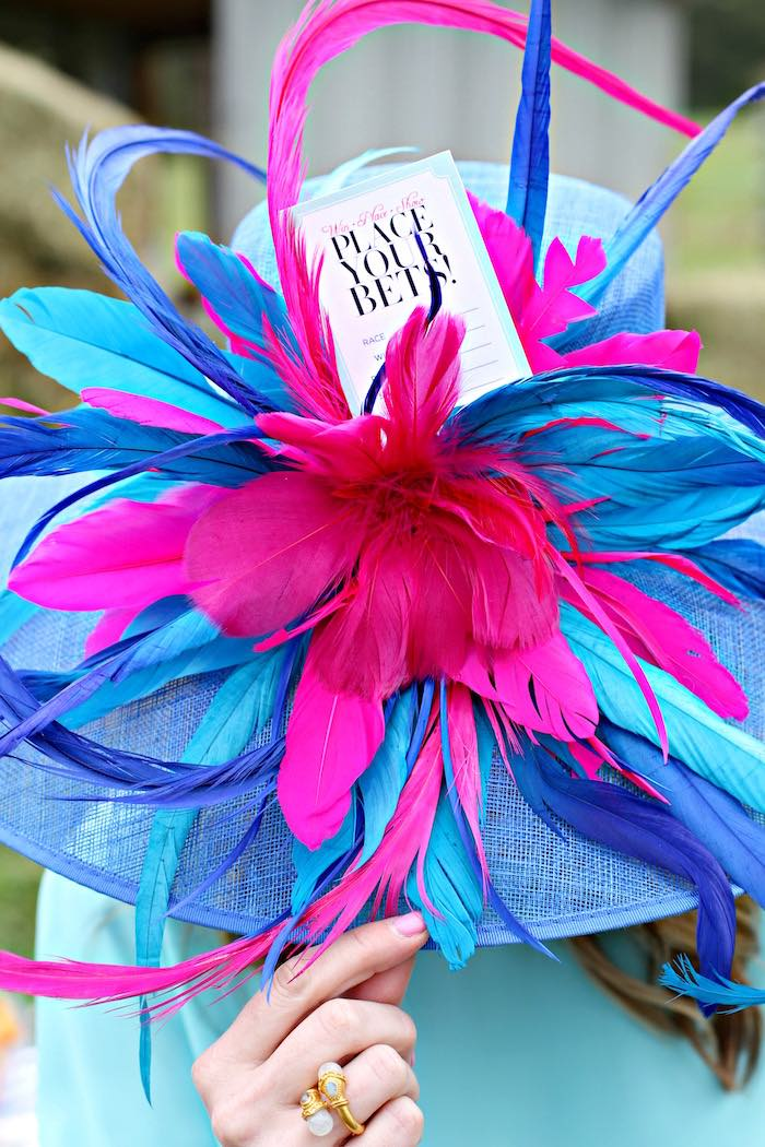 Party Hat from a Kentucky Derby Garden Party via Kara's Party Ideas | KarasPartyIdeas.com (13)