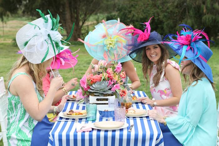 Ladies Dining at a Kentucky Derby Garden Party via Kara's Party Ideas | KarasPartyIdeas.com (12)