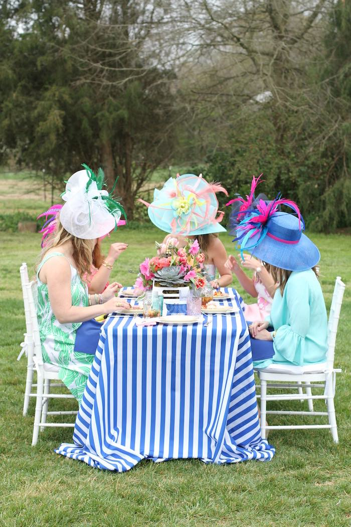 Ladies Dining at a Kentucky Derby Garden Party via Kara's Party Ideas | KarasPartyIdeas.com (11)