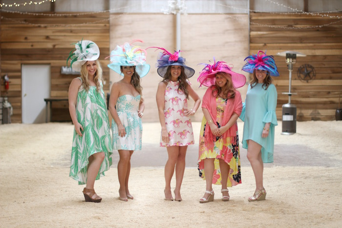 Ladies all dressed to impress from a Kentucky Derby Garden Party via Kara's Party Ideas | KarasPartyIdeas.com (6)