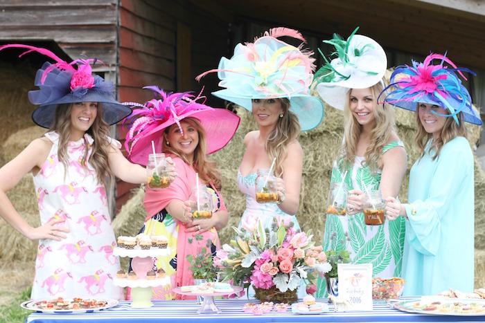 Girls from a Kentucky Derby Garden Party via Kara's Party Ideas | KarasPartyIdeas.com (3)