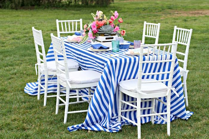 Dining Table from a Kentucky Derby Garden Party via Kara's Party Ideas | KarasPartyIdeas.com (51)