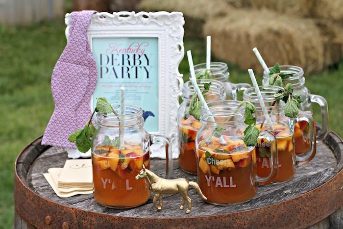 Drinks from a Kentucky Derby Garden Party via Kara's Party Ideas | KarasPartyIdeas.com (49)