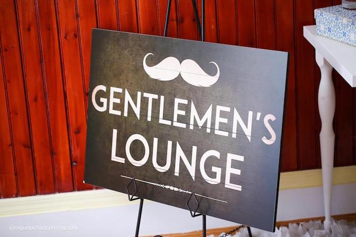 Sign from a Little Man Baby Shower via Kara's Party Ideas KarasPartyIdeas.com (8)