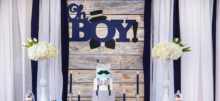 Kara S Party Ideas Little Man Baby Shower Kara S Party Ideas