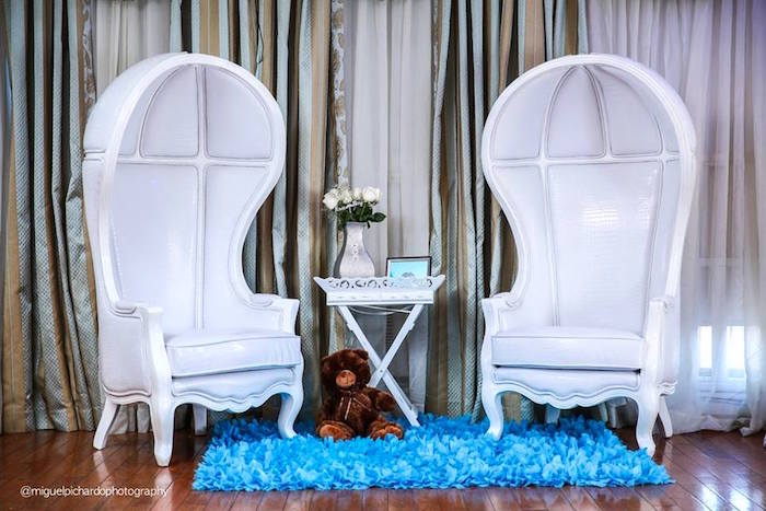 Exceptional Parents To Be Lounge + Receiving Area From A Little Man Baby Shower Via
