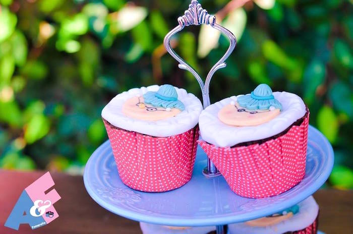 Grandma-inspired Cupcakes from a Little Red Riding Hood Birthday Party via Kara's Party Ideas | KarasPartyIdeas.com (63)