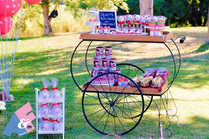 Favor Cart from a Little Red Riding Hood Birthday Party via Kara's Party Ideas | KarasPartyIdeas.com (57)