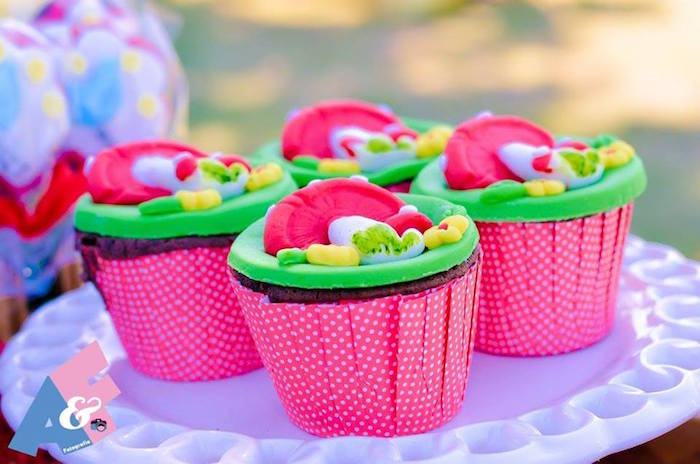 Cupcakes from a Little Red Riding Hood Birthday Party via Kara's Party Ideas | KarasPartyIdeas.com (52)