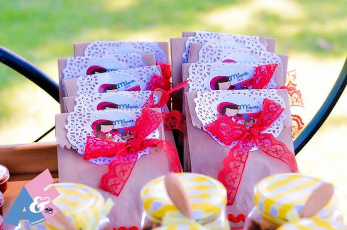 Little Red Riding Hood-inspired Favor Sacks from a Little Red Riding Hood Birthday Party via Kara's Party Ideas | KarasPartyIdeas.com (77)