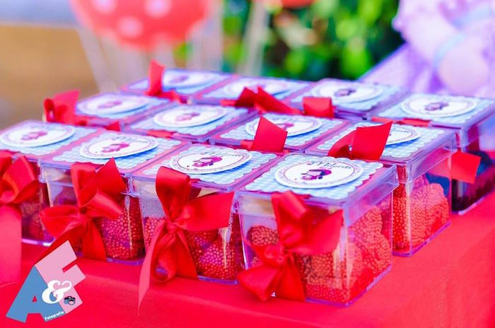 Mini Plastic Favor Boxes from a Little Red Riding Hood Birthday Party via Kara's Party Ideas | KarasPartyIdeas.com (47)