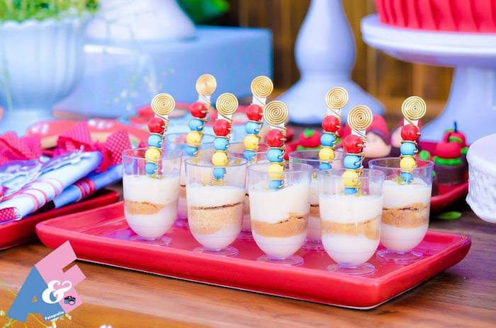 Dessert Cups from a Little Red Riding Hood Birthday Party via Kara's Party Ideas | KarasPartyIdeas.com (46)
