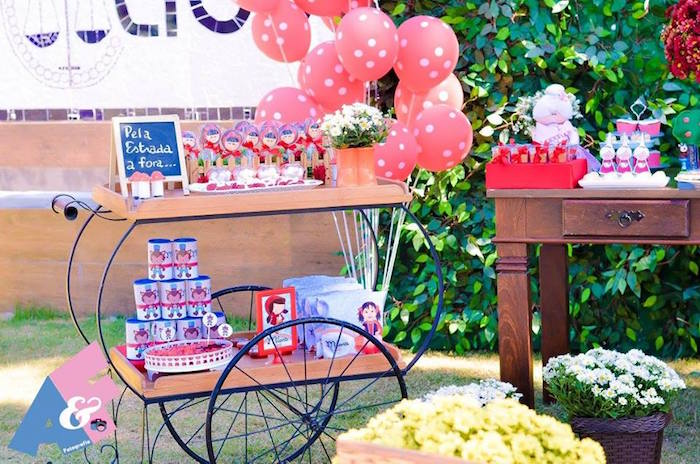 Favor Cart from a Little Red Riding Hood Birthday Party via Kara's Party Ideas | KarasPartyIdeas.com (76)