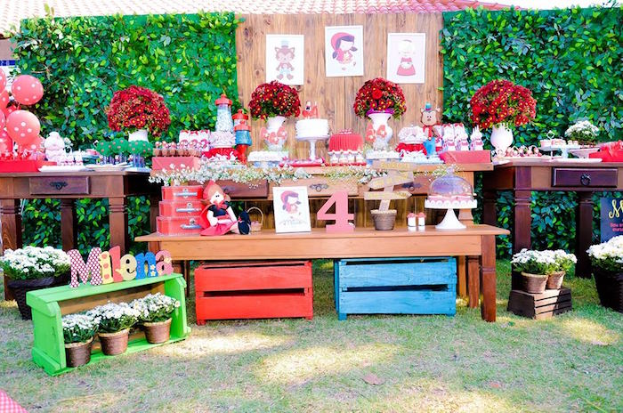 Dessert Display from a Little Red Riding Hood Birthday Party via Kara's Party Ideas | KarasPartyIdeas.com (29)