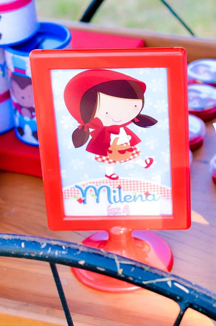 Sign + Stationery from a Little Red Riding Hood Birthday Party via Kara's Party Ideas | KarasPartyIdeas.com (16)