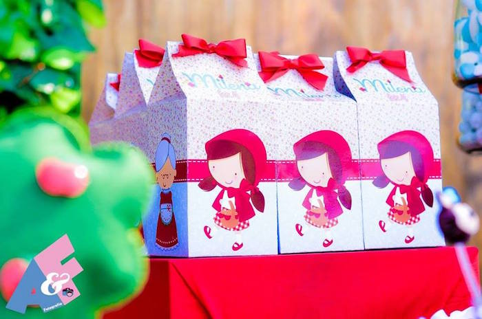 Mini Favor Boxes from a Little Red Riding Hood Birthday Party via Kara's Party Ideas | KarasPartyIdeas.com (13)