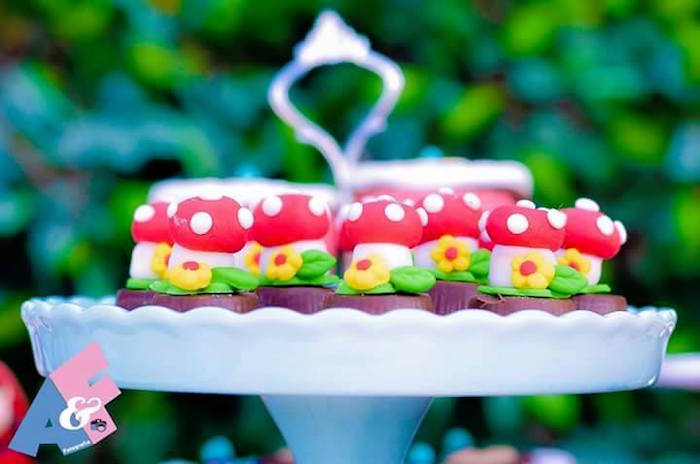 Toadstool Sweets from a Little Red Riding Hood Birthday Party via Kara's Party Ideas | KarasPartyIdeas.com (73)