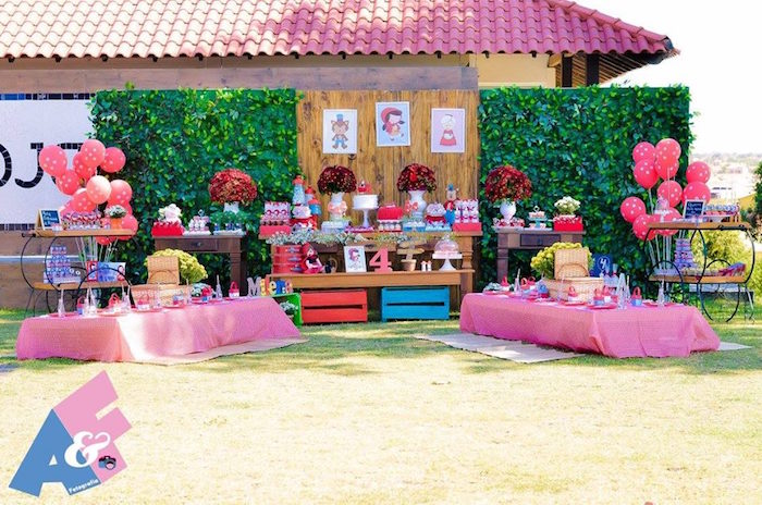 Party Setup from a Little Red Riding Hood Birthday Party via Kara's Party Ideas | KarasPartyIdeas.com (8)