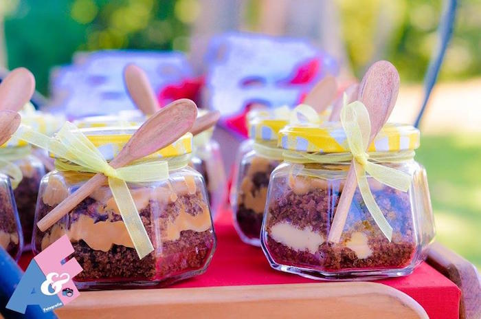 Dessert Jars from a Little Red Riding Hood Birthday Party via Kara's Party Ideas | KarasPartyIdeas.com (6)