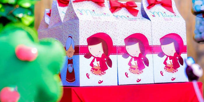 Mini Favor Boxes from a Little Red Riding Hood Birthday Party via Kara's Party Ideas | KarasPartyIdeas.com (1)