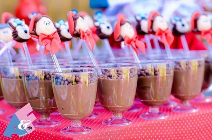 Dessert Cups from a Little Red Riding Hood Birthday Party via Kara's Party Ideas | KarasPartyIdeas.com (70)