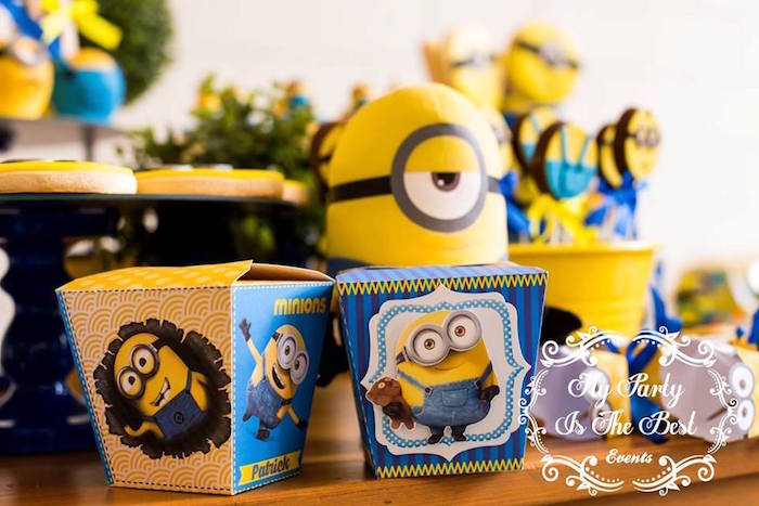 Chinese Favor Boxes from a Minions Birthday Party via Kara's Party Ideas | KarasPartyIdeas.com (33)