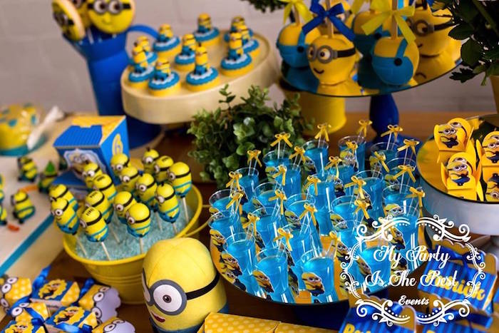 Sweets from a Minions Birthday Party via Kara's Party Ideas | KarasPartyIdeas.com (31)
