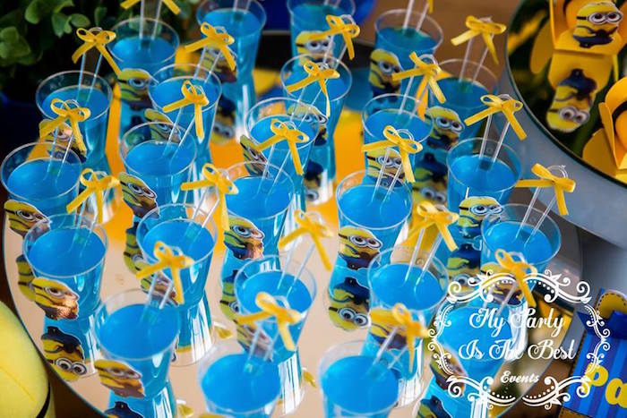Jello Cups from a Minions Birthday Party via Kara's Party Ideas | KarasPartyIdeas.com (28)