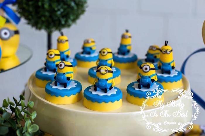 Covered Oreos from a Minions Birthday Party via Kara's Party Ideas | KarasPartyIdeas.com (24)