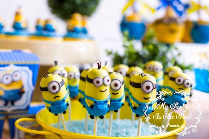 Minion Cake Pops from a Minions Birthday Party via Kara's Party Ideas | KarasPartyIdeas.com (20)