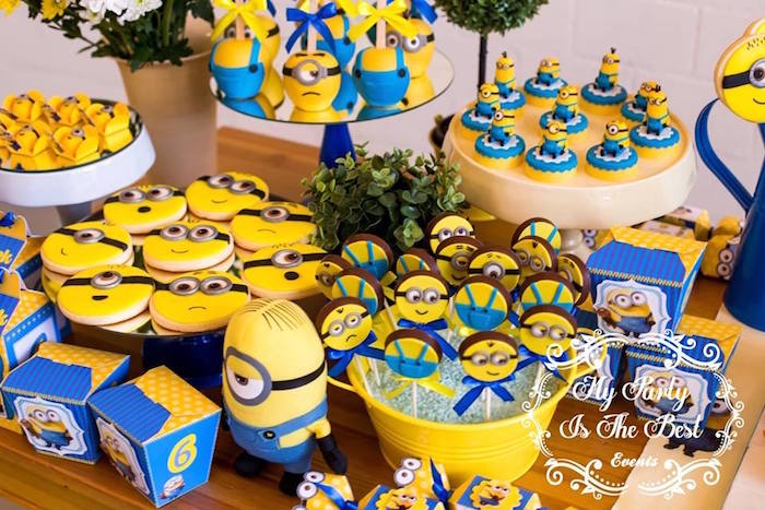 Sweets From A Minions Birthday Party Via Karas Ideas